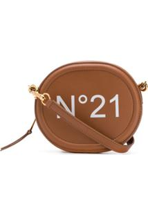 Nº21 Bolsa Transversal Com Estampa De Logo - Marrom