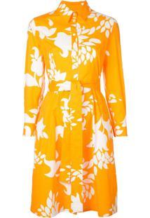 Carolina Herrera Chemise Com Estampa Floral - Laranja