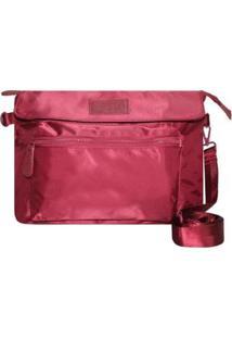 Bolsa Tiracolo De Nylon Matching Colors Lets Go Feminina - Feminino-Vinho