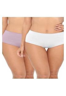 Kit/2 Calcinha Love Secret 819.304 Branco/Nude