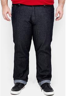 Calça Jeans Slim Biotipo Fit Plus Size Masculina - Masculino