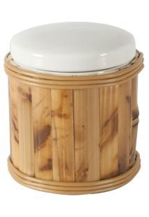 Porta Cotonete/Algodão Em Bambu
