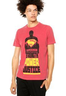 Camiseta Ellus 2Nd Floor Superman Strenght Vermelha
