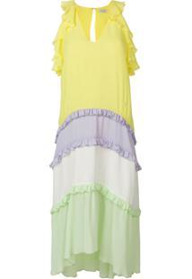 Three Floor Vestido 'Limelight' - Amarelo