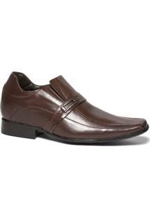 Sapato Social Milano Fique Mais Alto Elevel Masculino - Masculino-Marrom