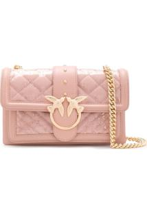 Pinko Love Clutch Bag - Rosa