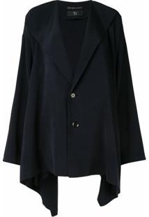 Y'S Jaqueta Oversized Com Abotoamento Simples - Azul