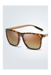 Óculos De Sol Quadrado Xy0733 - Marrom