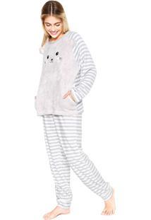 Pijama Any Any Funny Bear Cinza