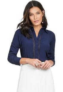 Camisa Social Feminina Principessa Ramona Marinho