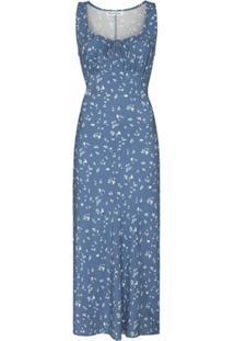 Reformation Vestido Midi Lauryl Com Estampa Floral - Azul
