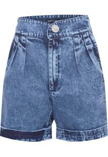 Short Feminino Jeans - Azul