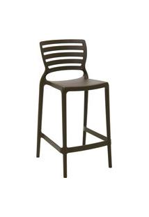 Cadeira Alta Tramontina 92127109 Sofia Com Encosto Vazado Marrom