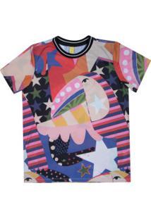 Camiseta Farm Rio Tuca Maroto - Feminina - Preto/Rosa
