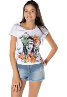 Blusa Floral - Branca & Laranjadwz