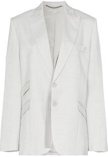 Stella Mccartney Single Breasted Suit Blazer - Cinza