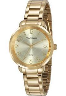 Relógio Feminino Mondaine 53657Lpmvde1 38Mm Aço - Feminino-Dourado