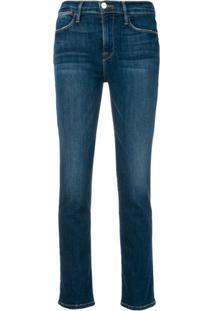 Frame Slim Fit Jeans - Azul