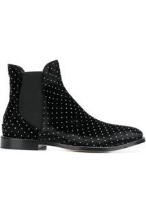 Jimmy Choo Ankle Boot 'Merri' De Veludo - Preto
