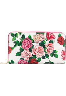 Dolce & Gabbana Carteira De Couro Com Estampa Floral - Rosa