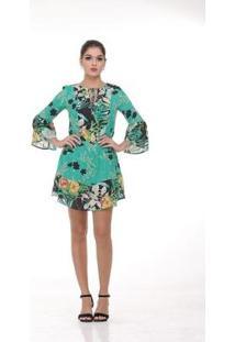 Vestido Clara Arruda Decote Triangulo Estampado 50340 - Feminino