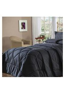 Edredom King Plumasul Summer Soft Touch 280X260Cm Preto