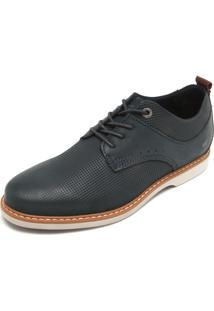 Sapato West Coast Pesponto Azul-Marinho
