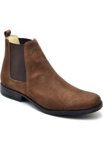 Bota Top Franca Shoes Casual - Masculino-Caramelo