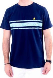 Camiseta England Polo Club Listrada Masculina - Masculino-Marinho