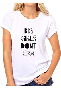 Camiseta Coolest Big Girls Don'T Cry Feminina - Feminino-Branco