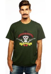 Camiseta Hardivision Hombre Manga Curta - Masculino-Verde Militar