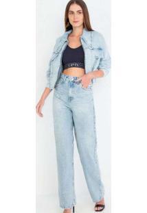 Calça Hailey Reta Longa Conceito Unico Jeans Multi