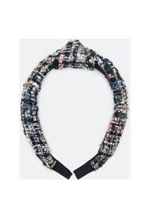 Tiara Larga Com Nó De Tweed | Accessories | Multicores | U