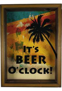 Quadro Porta Tampinhas Cerveja Rústico Decoração - Ref 762 Art Frame