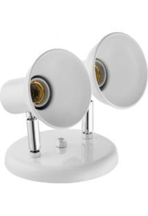 Spot Dallas Branco/Cromado Alumínio 2 Lâmpadas Click Injet