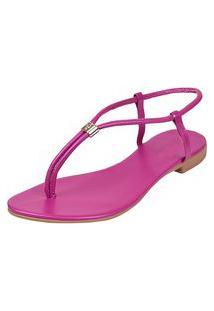 Sandalia Feminina Rasteira Dona Madame 071303 Pink