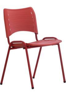 Cadeira De Escritório Interlocutor Evidence Color Vermelho