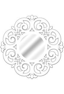 Espelho De Parede 14880B Branco 70X70 Art Shop