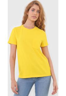 Camiseta Gap Bolso Amarela