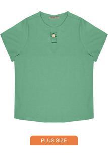 Blusa Plus Size Feminina Lisa Verde