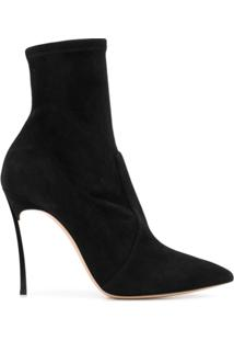 Casadei Heeled Ankle Boots - Preto