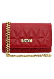 Bolsa Clutch Ravy Store Pequena Metalassê Vermelha