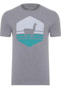 Camiseta Masculina Lhama - Cinza