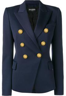 Balmain Blazer Com Botões Decorativos - Azul