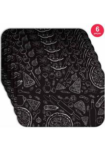 Jogo Americano Love Decor Wevans Pizza Kit Com 6 Pçs