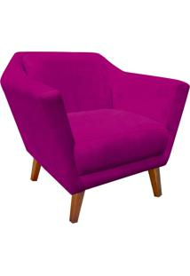 Poltrona Decorativa Lorena Suede Pink - D'Rossi
