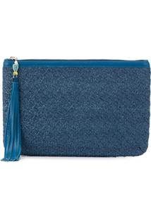 Atelier Swarovski Sea Life Zipped Clutch - Azul