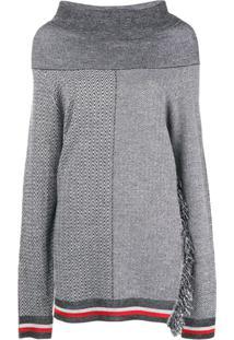 Stella Mccartney Suéter Oversized Com Gola Ampla - Cinza