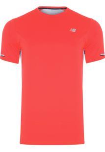 Camiseta Masculina Nb Ice Sleeve - Laranja