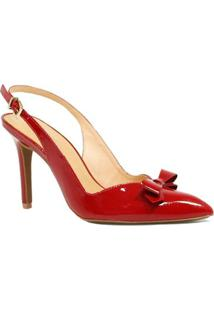 Sapato Zariff Shoes Chanel Laço - Feminino-Vermelho